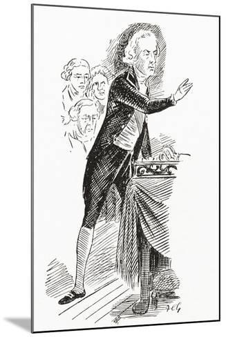William Pitt the Younger Addressing the House of Commons, 1793--Mounted Giclee Print