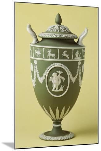Urn, Green Stoneware, Wedgwood Manufacture, Staffordshire, England--Mounted Giclee Print