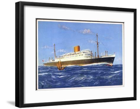Dampfer Gneisenau Der Norddt. Lloyd Bremen--Framed Art Print