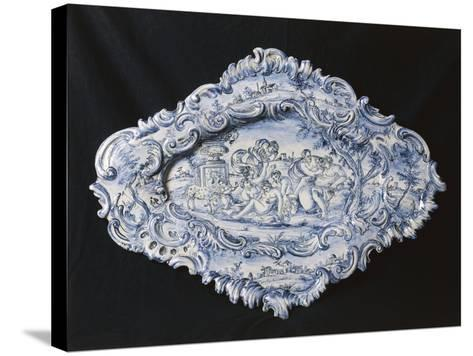 Rocaille-Style Plate, 1742--Stretched Canvas Print