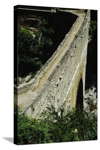 Pondel Bridge, Roman Aqueduct, Aymavilles, Valle D' Aosta, Italy BC--Stretched Canvas Print