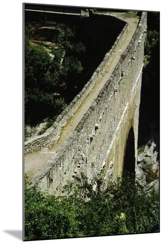 Pondel Bridge, Roman Aqueduct, Aymavilles, Valle D' Aosta, Italy BC--Mounted Giclee Print