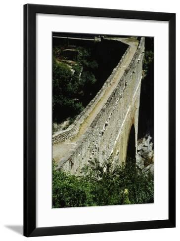 Pondel Bridge, Roman Aqueduct, Aymavilles, Valle D' Aosta, Italy BC--Framed Art Print