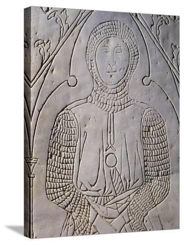 Tombstone of Francesco De Loffredo, Campanian Warrior in 1300s, Italy--Stretched Canvas Print