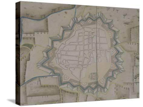 Map of Military Fortifications in Novara, 1775--Stretched Canvas Print