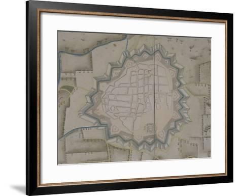 Map of Military Fortifications in Novara, 1775--Framed Art Print