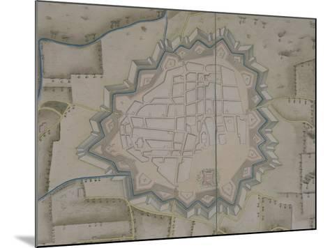 Map of Military Fortifications in Novara, 1775--Mounted Giclee Print
