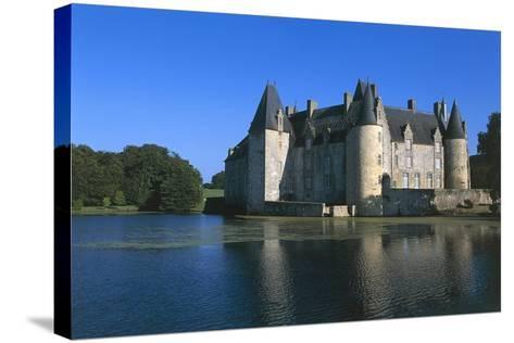 France, Loire Valley, Mezangers, Rocher Castle--Stretched Canvas Print