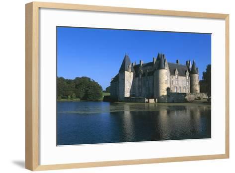 France, Loire Valley, Mezangers, Rocher Castle--Framed Art Print
