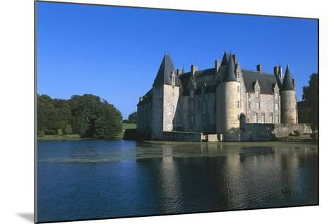France, Loire Valley, Mezangers, Rocher Castle--Mounted Giclee Print