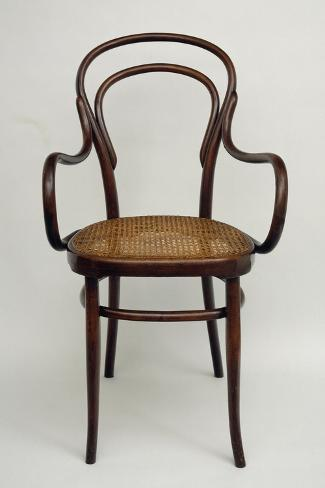 Thonet Chair, Steamed Beech, Austria--Stretched Canvas Print