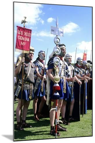 Roman Army, 14th Legion in Britain, Historical Re-Enactment--Mounted Giclee Print