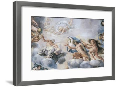 Cosimo I Pictured as Young Man Who Receives Crown of Immortality from Jupiter--Framed Art Print