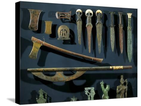 Ancient Egyptian Bronze Axes and Daggers with Electrum Blades and Ivory Handles--Stretched Canvas Print