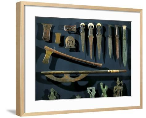 Ancient Egyptian Bronze Axes and Daggers with Electrum Blades and Ivory Handles--Framed Art Print