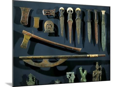 Ancient Egyptian Bronze Axes and Daggers with Electrum Blades and Ivory Handles--Mounted Giclee Print