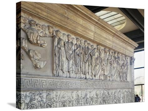 Roman Civilization, Augustae Ara Pacis Bas Relief with Caesar Augustus and His Family--Stretched Canvas Print