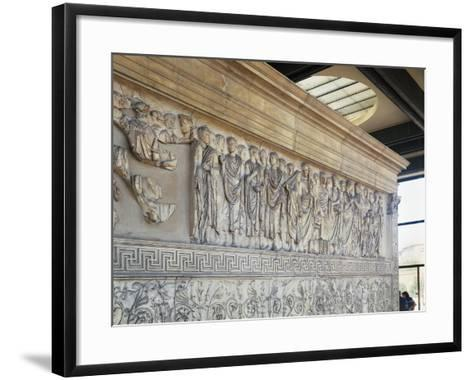Roman Civilization, Augustae Ara Pacis Bas Relief with Caesar Augustus and His Family--Framed Art Print