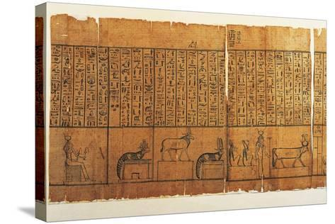 Jumilhac Papyrus: Treaty of Mythological Geography in Cursive Hieroglyphs--Stretched Canvas Print