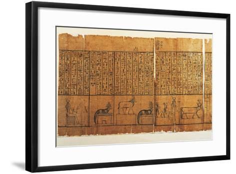 Jumilhac Papyrus: Treaty of Mythological Geography in Cursive Hieroglyphs--Framed Art Print