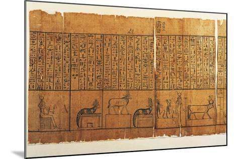 Jumilhac Papyrus: Treaty of Mythological Geography in Cursive Hieroglyphs--Mounted Giclee Print
