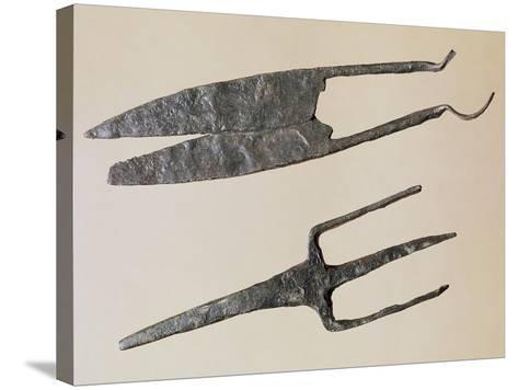 Scissors and Trident, Gallo-Roman Civilization--Stretched Canvas Print