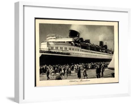 Norddeutscher Lloyd Bremen, Expressdampfer Bremen--Framed Art Print