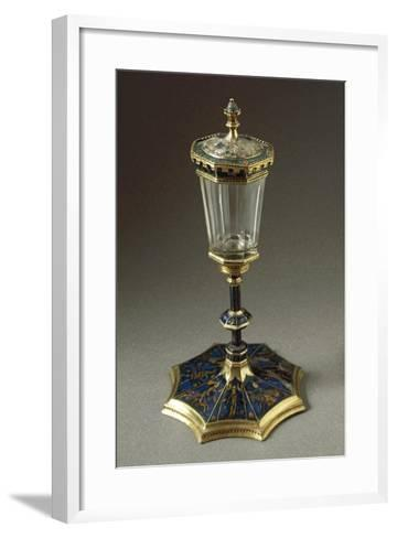 Tournament Cup or Coupe Du Tournoi, in Gold, Enamel, Rock Crystal--Framed Art Print