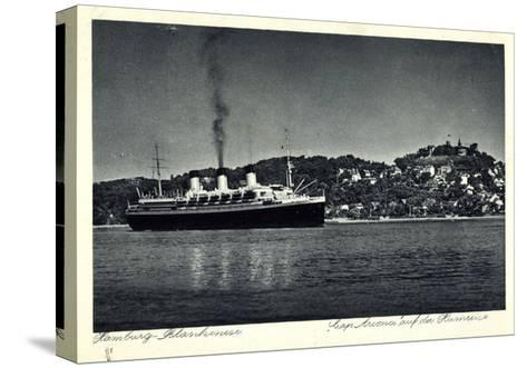 Hamburg Altona Blankenese, HSDG, Cap Arcona, Dampfer--Stretched Canvas Print