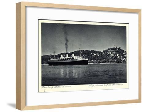 Hamburg Altona Blankenese, HSDG, Cap Arcona, Dampfer--Framed Art Print