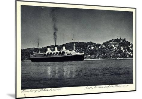 Hamburg Altona Blankenese, HSDG, Cap Arcona, Dampfer--Mounted Giclee Print