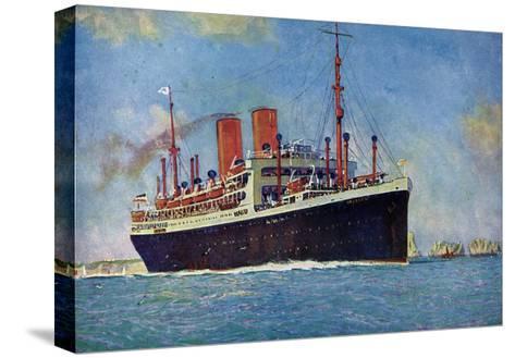 Künstler Norddeutscher Lloyd Bremen, Dampfer Dresden--Stretched Canvas Print