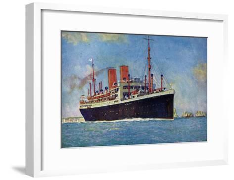 Künstler Norddeutscher Lloyd Bremen, Dampfer Dresden--Framed Art Print