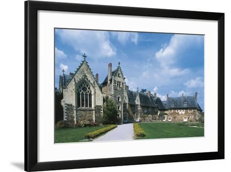 France, Loire Valley, Plessis-Mace, Medieval Castle--Framed Art Print