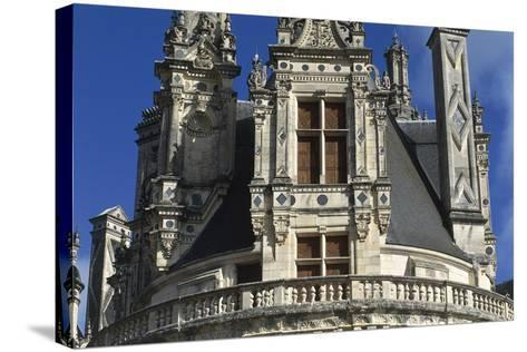 France, Centre Region, Loir-Et-Cher Department, Chambord, Chambord Castle, Detail--Stretched Canvas Print