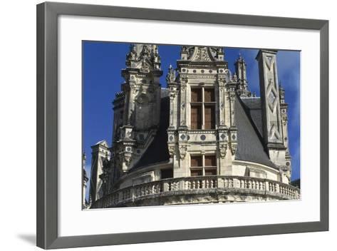 France, Centre Region, Loir-Et-Cher Department, Chambord, Chambord Castle, Detail--Framed Art Print