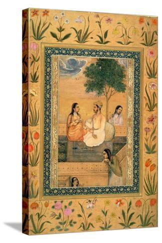 Ms 7Az Parviz and Women--Stretched Canvas Print