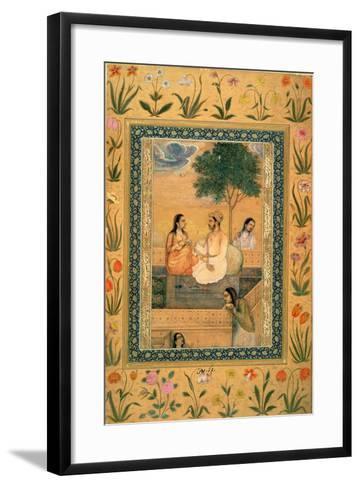 Ms 7Az Parviz and Women--Framed Art Print