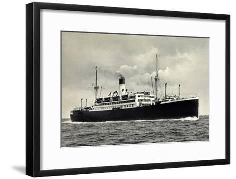 Hapag, Dampfer Cap Norte, Antonio Delfino--Framed Art Print
