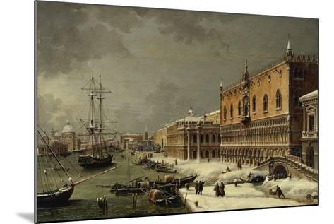 Italy, Trieste, Snow and Fog in Venice--Mounted Giclee Print