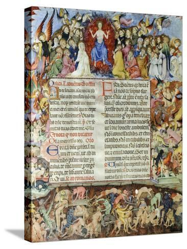 The Universal Judgment, Miniature from the Missal by Saint Eulalia, Manuscript, Spain--Stretched Canvas Print