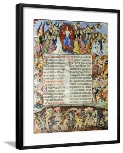 The Universal Judgment, Miniature from the Missal by Saint Eulalia, Manuscript, Spain--Framed Art Print