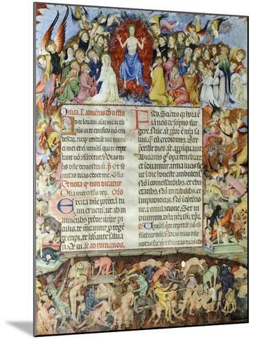 The Universal Judgment, Miniature from the Missal by Saint Eulalia, Manuscript, Spain--Mounted Giclee Print