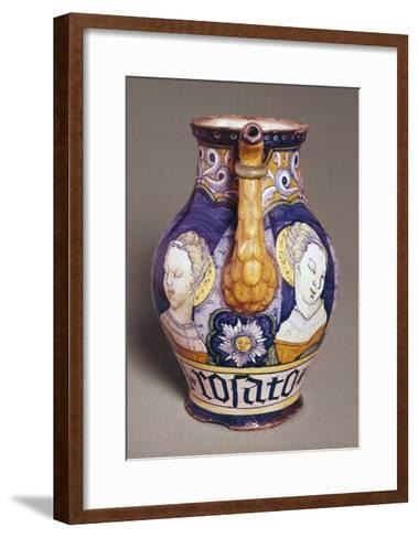 Apothecary Jar with Female Portraits--Framed Art Print