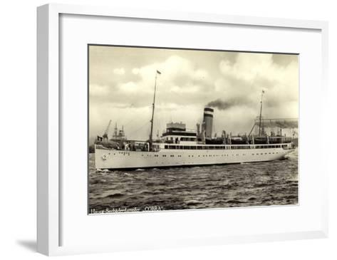 Hapag, Seebäderdienst, Dampfschiff Cobra, Hebekräne--Framed Art Print