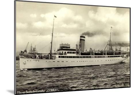 Hapag, Seebäderdienst, Dampfschiff Cobra, Hebekräne--Mounted Giclee Print