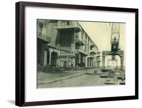 Odessa Ukraine, Refrigerator, Blick in Den Hafen--Framed Art Print