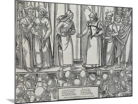 Performance of Farce in Parisian Theatre, 16th Century--Mounted Giclee Print