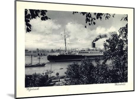 Bremen Vegesack, Dampfer Auf Der Weser--Mounted Giclee Print