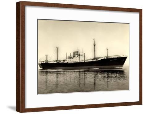 Norddeutscher Lloyd Bremen, M.S. Bartenstein, Dampfer--Framed Art Print